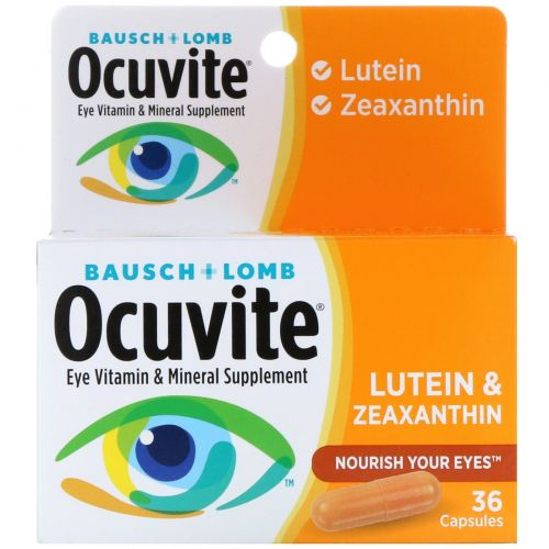 Bausch & Lomb Ocuvite, Лютеин и зеаксантин, 36 капсул