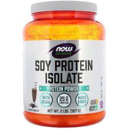 Now Foods, Изолят соевого белка со вкусом натурального шоколада, 907 г
