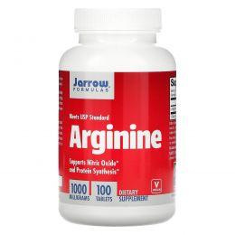 Jarrow Formulas, Аргинин, 1000 мг, 100 таблетки