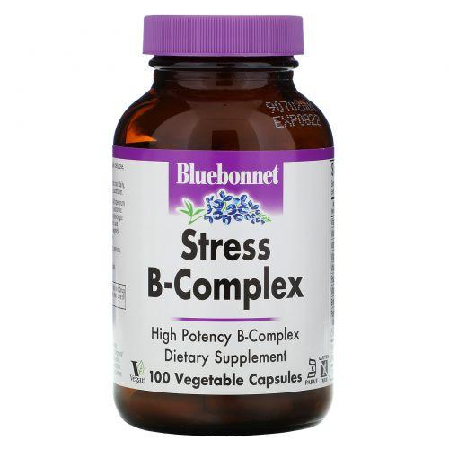Bluebonnet Nutrition, Стресс B-комплекс 100 овощных капсул