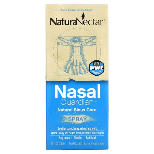 NaturaNectar, Назальный спрей Nasal Guardian, 1,0 жидкая унция (30 мл)