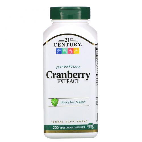 21st Century, Экстракт клюквы, стандартизированнный, 200 вегетарианских капсул