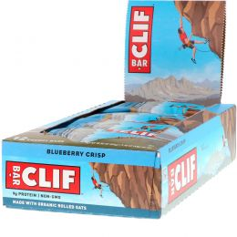Clif Bar, Energy Bar, Blueberry Crisp, 12 Bars, 2.4 oz (68 g) Each