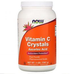 Now Foods, Витамин C в кристаллах, 3 фунта (1361 г)
