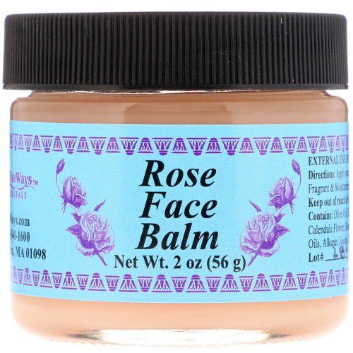 WiseWays Herbals, LLC, Бальзам для лица Роза 2 унции (56 г)