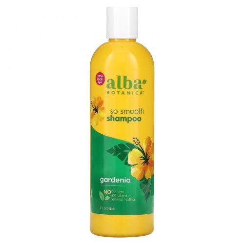 Alba Botanica, Натуральный гавайский шампунь, смягчающая гардения, 12 жидких унций (355 мл)