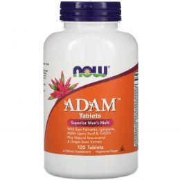 Now Foods, Adam, лучшие мультивитамины для мужчин, 120 таблеток