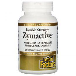Natural Factors, Zymactive, двойная сила, 90 таблеток в кишечнорастворимой оболочке