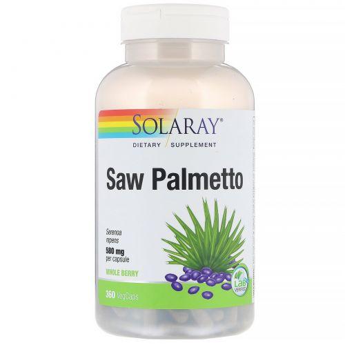 Solaray, Saw Palmetto Whole Berry, 360 VegCaps
