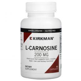 Kirkman Labs, L-карнозин, 200 мг, 90 капсул