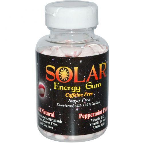 B-Fresh Inc., Solar, энергетическая жевательная резинка, планета перечной мяты, 100 штук