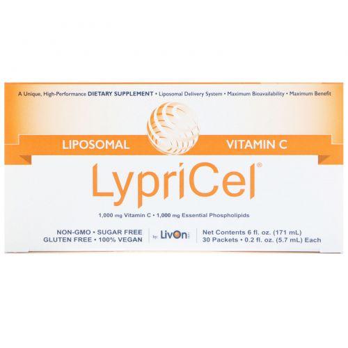 LypriCel, Липосомальный витамин С, 30 пакетиков, 0,2 жидких унций (5,4 мл) каждый