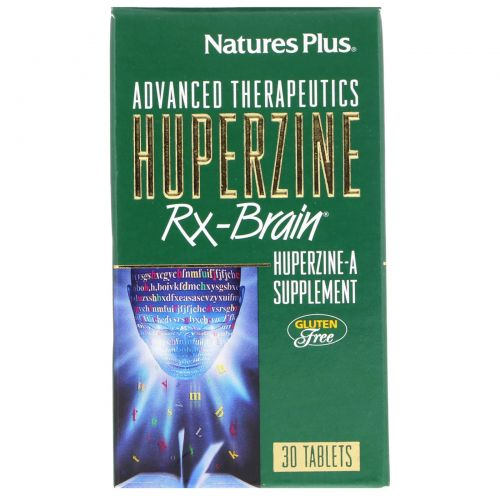 Nature's Plus, Advanced Therapeutics, Гуперзин-А для Работы Мозга, 30 таблеток