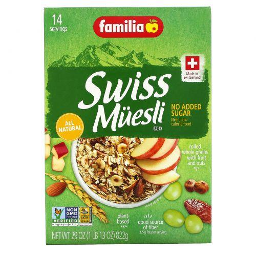 Familia, Швейцарские мюсли, Без добавления сахара, 32 унции (908 г)