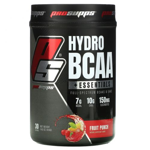 ProSupps, Hyrdo BCAA +Essentials, Fruit Punch, 14.6 oz (414 g)