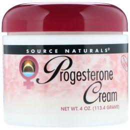 Source Naturals, Натуральный крем с прогестероном, 4 унции (113,4 г)