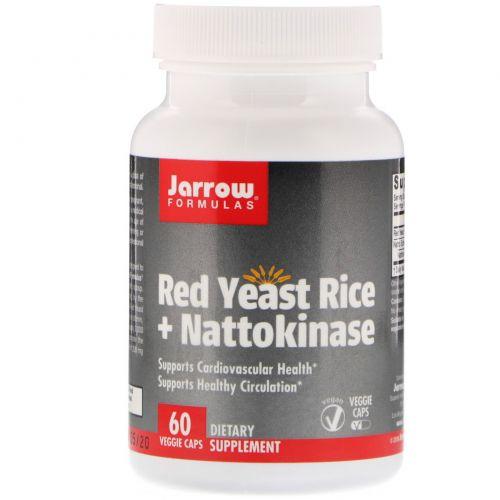 Jarrow Formulas, Красный дрожжевой рис + наттокиназа, 60 капсул