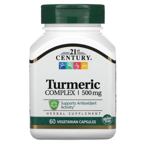 21st Century, Комплекс с куркумой, 500 мг, 60 вегетарианских капсул