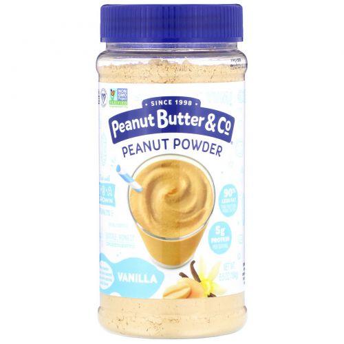 """Peanut Butter & Co., """"Мощный орех"""", порошковое арахисовое масло, ваниль, 6,5 унции, (184 г)"""