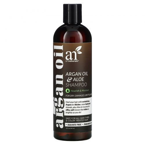 Artnaturals, Argan Oil & Aloe Shampoo, For Dry, Damaged, Brittle Hair, 12 fl oz (355 ml)