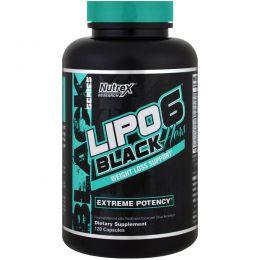 Nutrex Research Labs, Lipo 6 Black, для нее, для похудания, 120 капсул