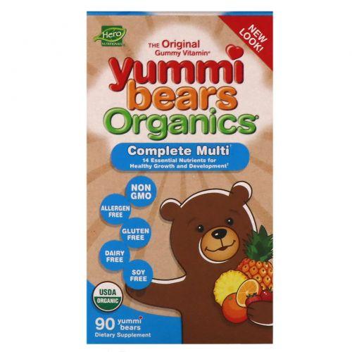 Hero Nutritional Products, Yummi Bears Organics, мультивитамины, 90 шт.