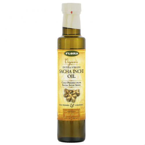 Flora, Органическое масло сача инчи холодного отжима, 8,5 жидк. унц. (250 мл)