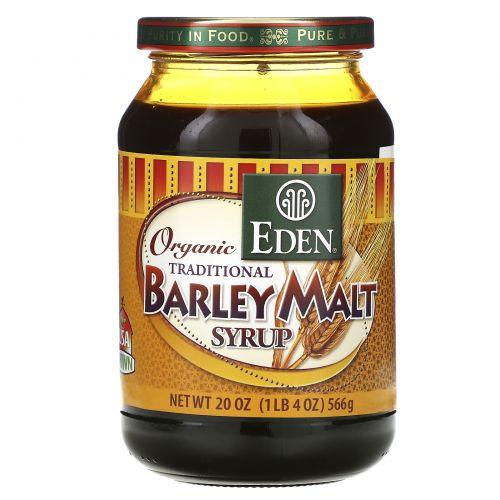 Eden Foods, Органический традиционный сироп из ячменного солода, 566 г