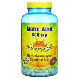 Nature's Life, Яблочная кислота, 250 капсул на растительной основе