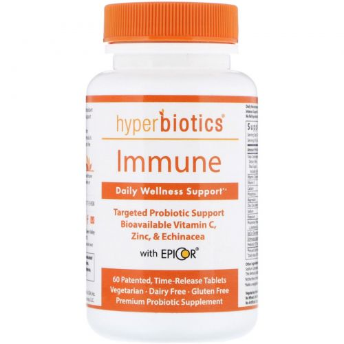 Hyperbiotics, Immune, Advanced Immune Formula, 4 Billion CFU, 60 Time-Release Tablets