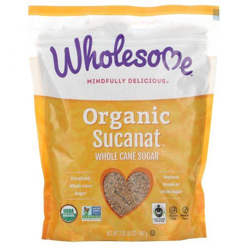 Wholesome Sweeteners, Inc., Органические Sucanat, обезвоженный сок сахарного тростника, 32 унций (907 г)