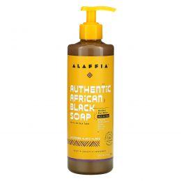 Alaffia, Authentic African Black Soap, Lavender Ylany Ylang, 16 fl oz (475 ml)