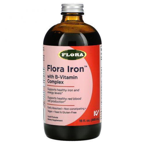 Flora, Iron with B-Vitamin Complex, 15 fl oz (445 ml)