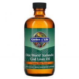 Garden of Life, Масло из печени исландской трески Olde World, со вкусом лимонной мяты (236 мл)