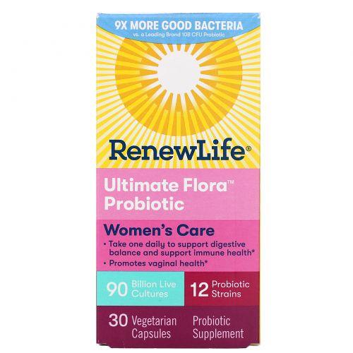 Renew Life, Ultimate Flora, полный комплекс для женщин, 90 миллиардов, 30 вегетарианских капсул