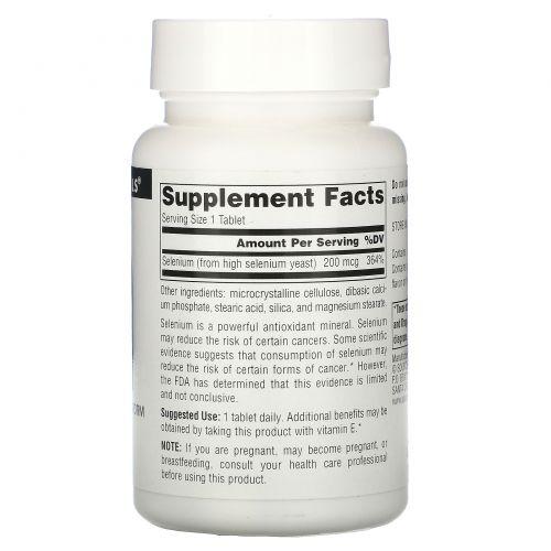 Source Naturals, Селениум, 200 мкг, 120 таблеток