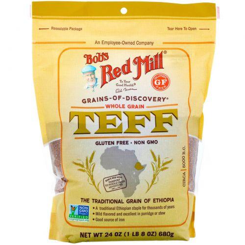 Bob's Red Mill, Тефф, цельное зерно, 680г (24унции)