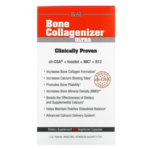 BioSil by Natural Factors, Bone Collagenizer, Ultra, 60 Vegetarian Capsules
