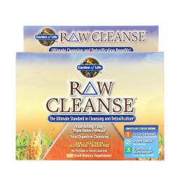 Garden of Life, RAW Cleanse, The Ultimate Standard in Cleansing and Detoxification, 3 Part Program
