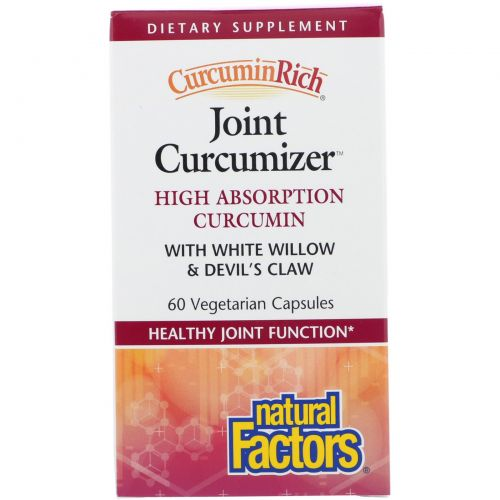 Natural Factors, CurcuminRich, средство для суставов на основе куркумина, 60 вегетарианских капсул