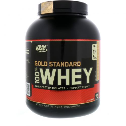 Optimum Nutrition, Gold Standard, 100% сыворотка, Cake Batter, 2,27 кг (5 фунтов)