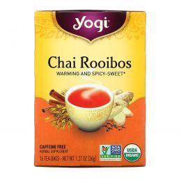 Yogi Tea, Органический чай ройбос без кофеина, 16 чайных пакетиков, 1.27 унций (36 г)