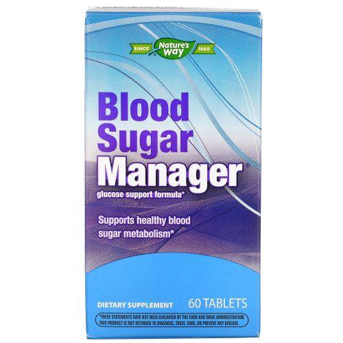 Enzymatic Therapy, Blood Sugar Manager, регулятор уровня сахара в крови, 60 таблеток
