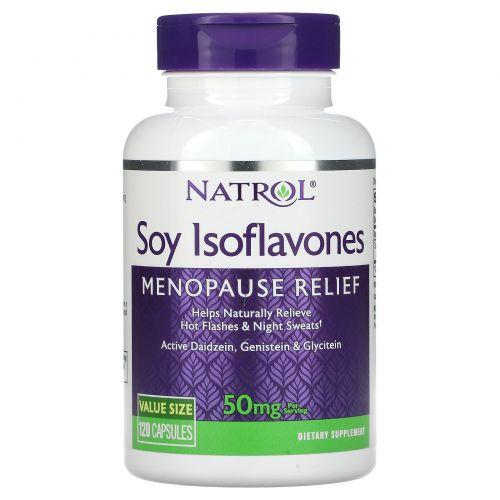 Natrol, Soy Isoflavones, 50 mg, 120 Capsules