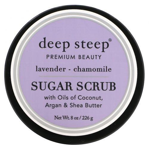 Deep Steep, Сахарный скраб, лаванда и ромашка, 8 унций (226 г)