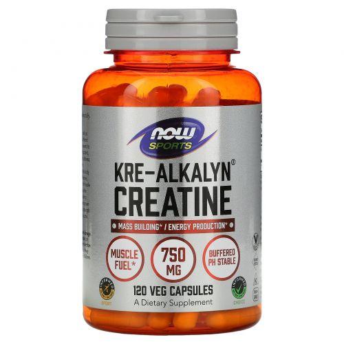 Now Foods, Креалкалин креатин для спортсменов, 120 капсул