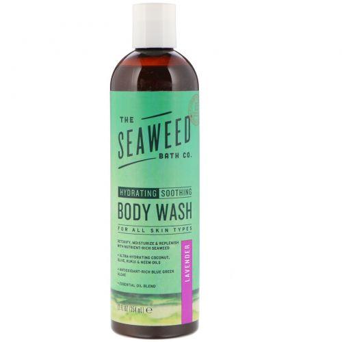 Seaweed Bath Co., Дико натурально, гель для душа с маслом кукуй + маслом нима, лаванда, 360 мл (12 жидких унций)