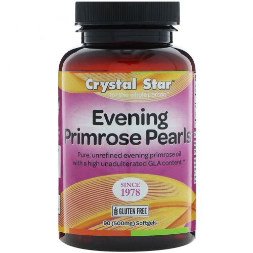 Crystal Star, Жемчужины вечерней примулы, 500 мг, 90 мягких таблеток