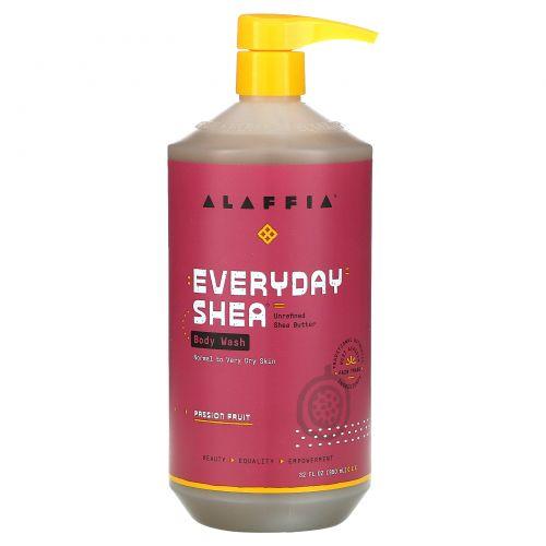 Everyday Shea, Увлажняющий очищающий гель для тела, Маракуйя, 32 унции (950 мл)
