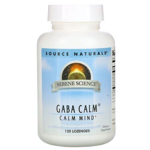 Source Naturals, Успокоительное средство GABA Calm с мятным вкусом, 120 пастилок